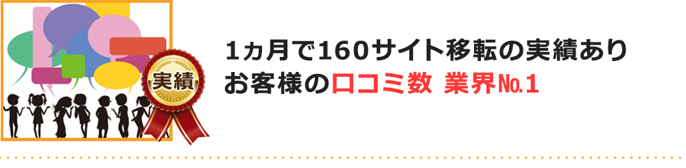 口コミ数業界No.1