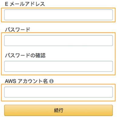AWS アカウント作成
