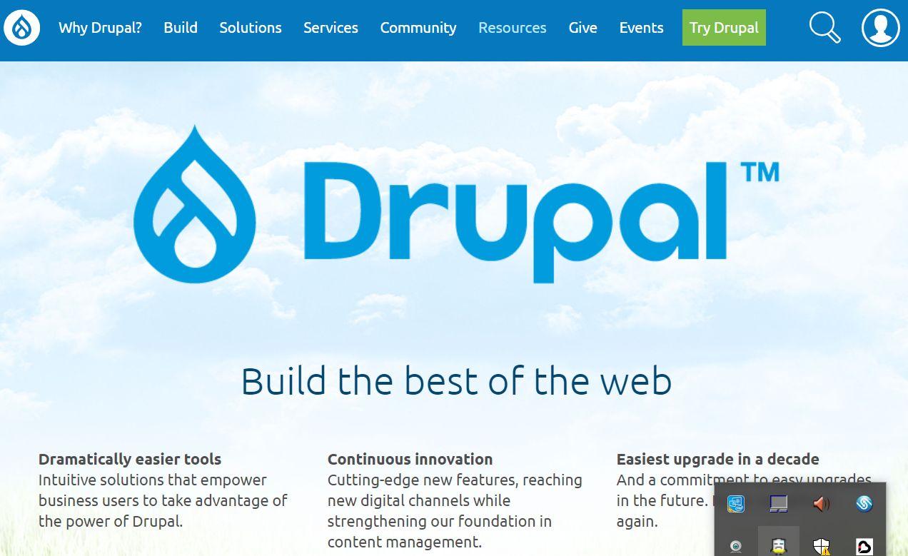Drupal公式ページ