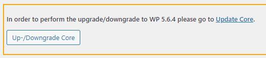 WP-Downgrade